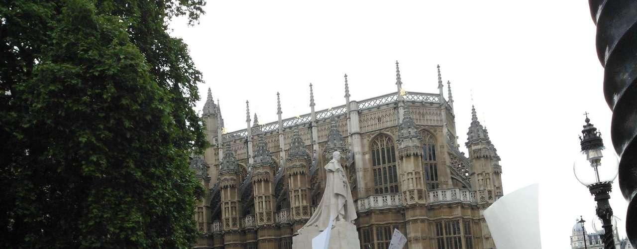 18 de junho - O evento em Londres aconteceu na Old Palace Yard, uma praça entre o Parlamento e a Abadia de Wesminster