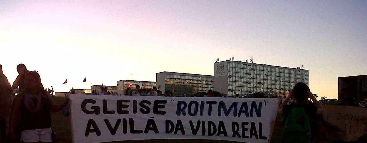 20 de junhoManifestantes se concentram para protesto emBrasília