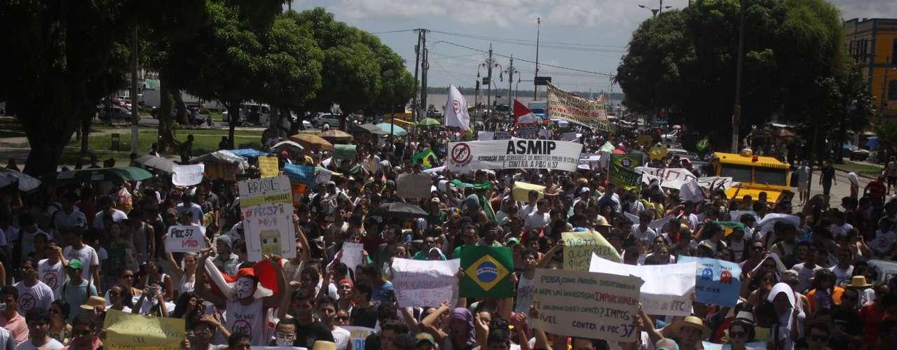 22 de junho Manifestação foi sem incidentes em Belém do Pará