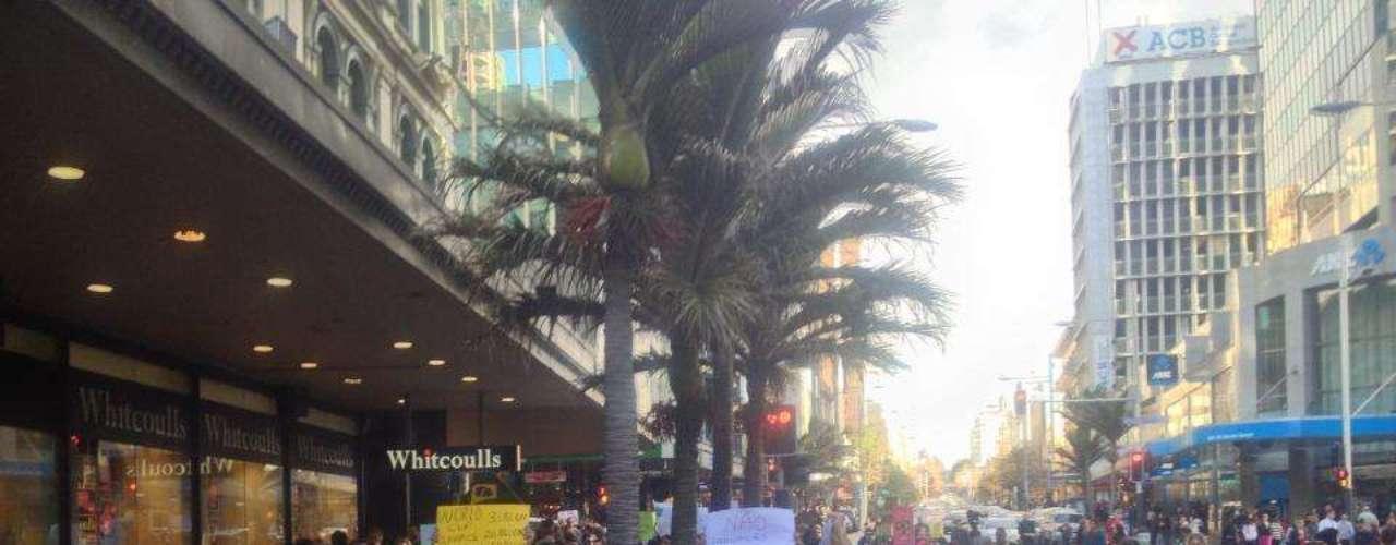 22 de junho - A manifestação durou aproximadamente duas horas