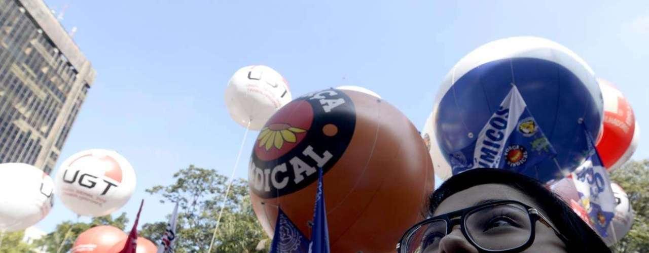 São Paulo Uma das bandeiras da manifestação de hoje é que o Projeto de Lei 4330 não seja aprovado