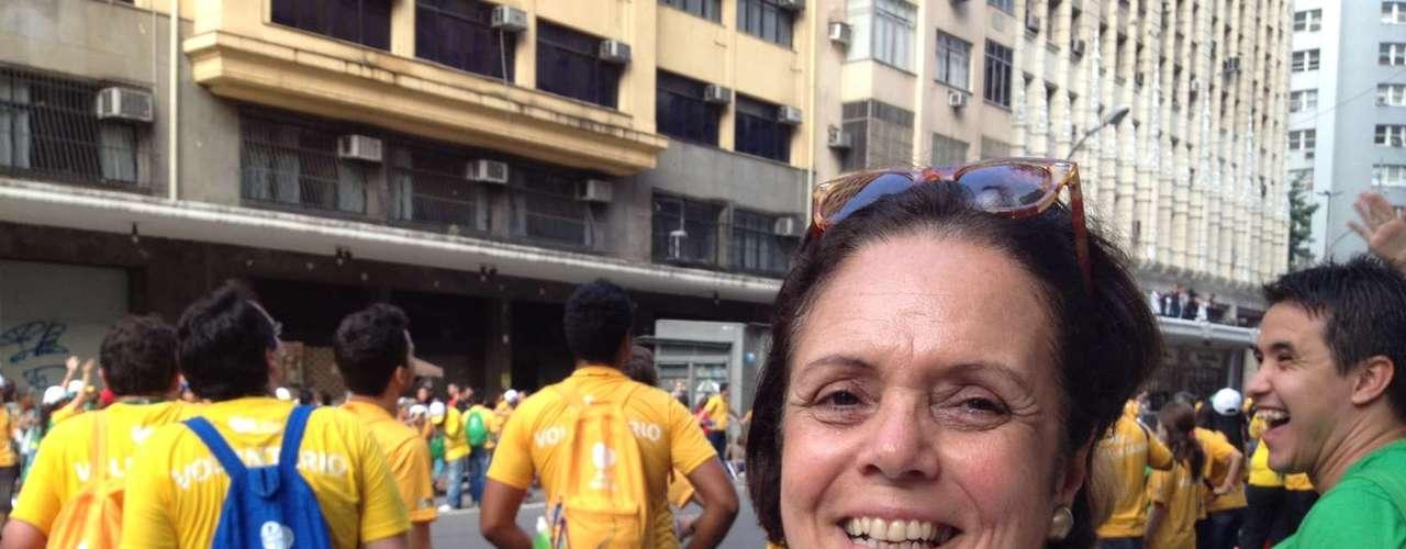 22 de julho - A peregrina Maria Alice Jardim diz já ter se encontrado com Francisco antes de ele ser anunciado Papa