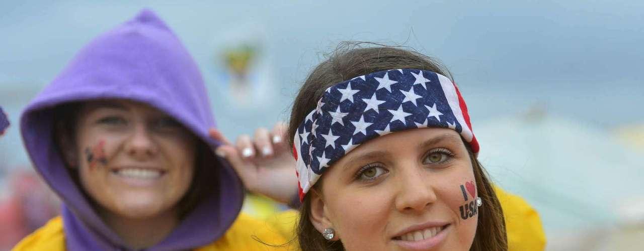 23 de julho -Com as cores dos Estados Unidos, garota esteve presente na abertura da Jornada Mundial da Juventude, em Copacabana