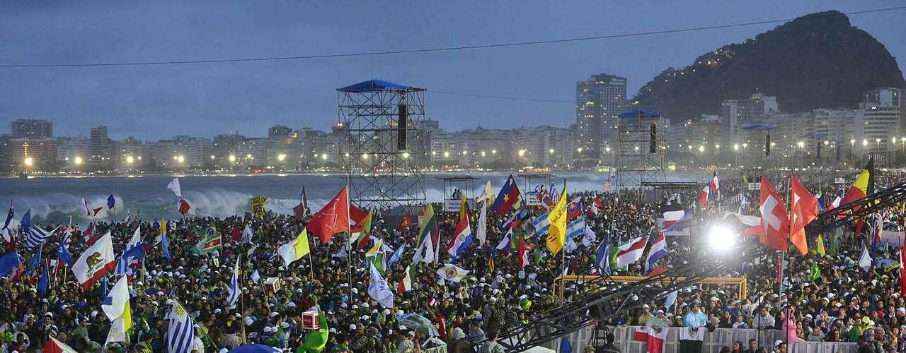 23 de julho -São esperadas cerca de 500 mil pessoas na abertura da Jornada Mundial da Juventude, em Copacabana