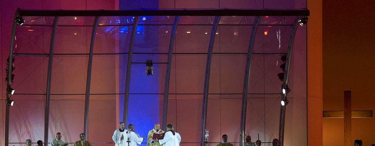 23 de julho -Arcebispo do Rio de Janeiro, dom Orani Tempesta, fala durante a missa de abertura da Jornada Mundial da Juventude, em Copacabana