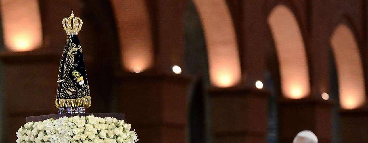 24 de junho -Papa celebrou a missa na basílica de Aparecida