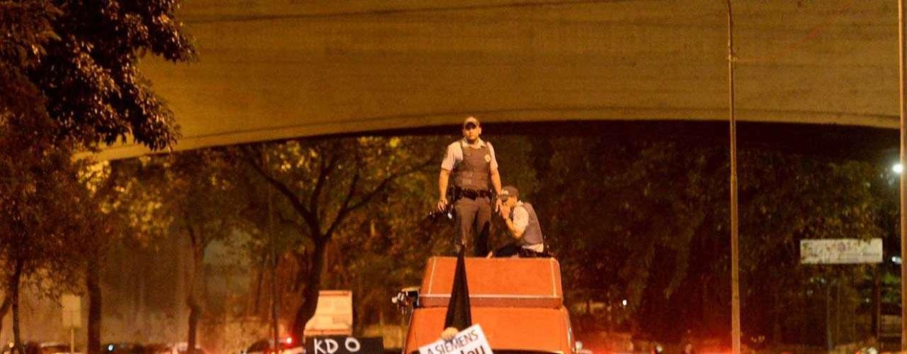 1º de agosto -Polícia monitora manifestação na região central de São Paulo