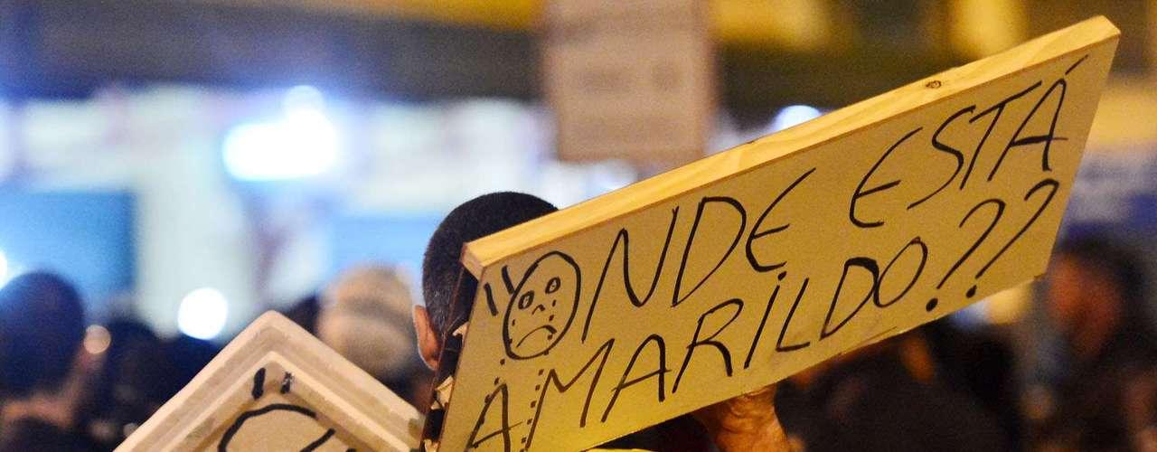 31 de julho -O paradeiro do pedreiro Amarildo, desaparecido após ser levado para esclarecimentos na UPP da Rocinha, era um dos focos da manifestação