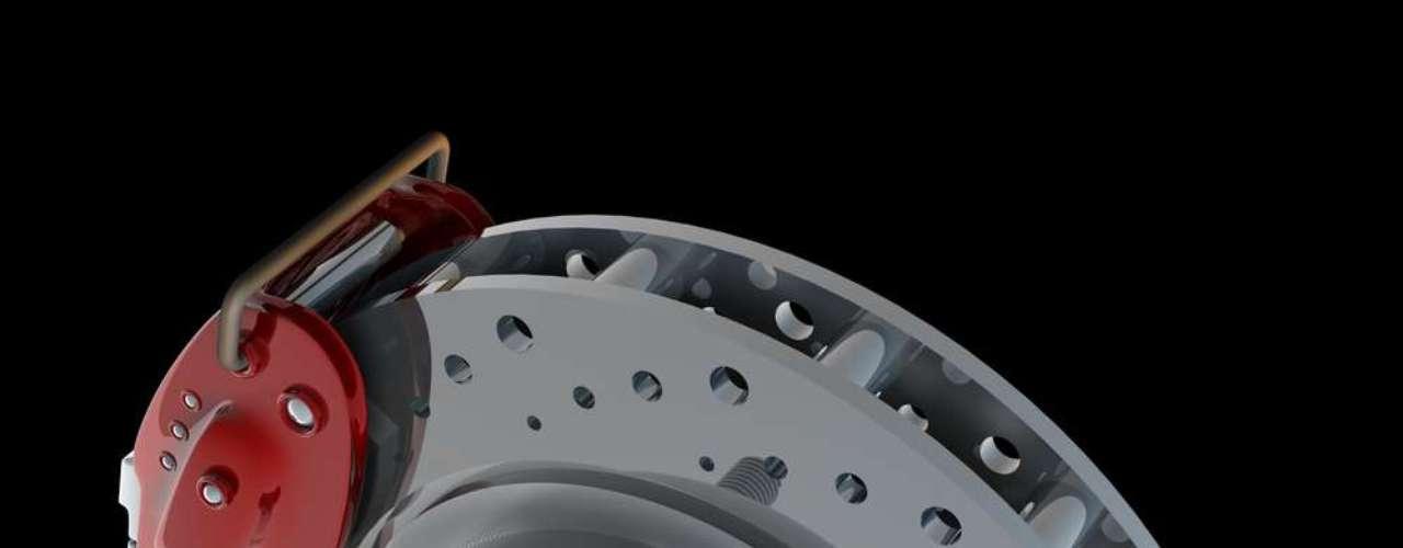 Maior parte do pó sai dos discos de freio