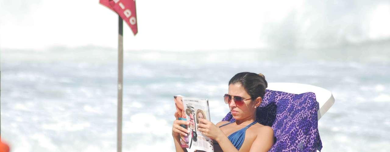 24 de agosto - Praia de Copacabana movimentada na manhã deste sábadono Rio de Janeiro
