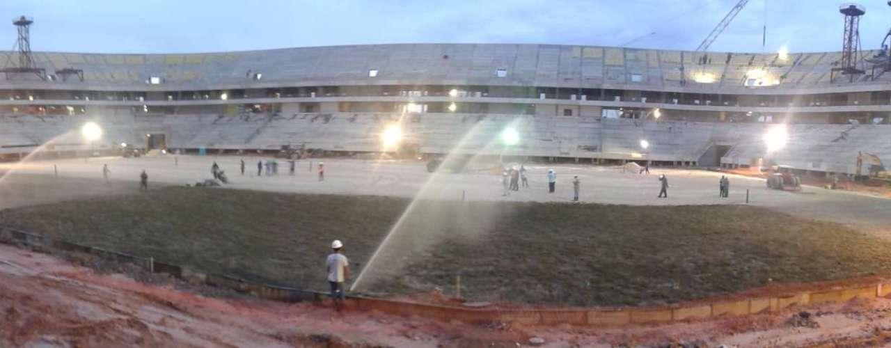 30 de setembro: a Arena Amazônia receberá a grama da espécie Bermuda 419, ideal para o clima quente da região amazônica, resistente a pisoteio e que tem certificação pela Universidade da Geórgia, nos Estados Unidos