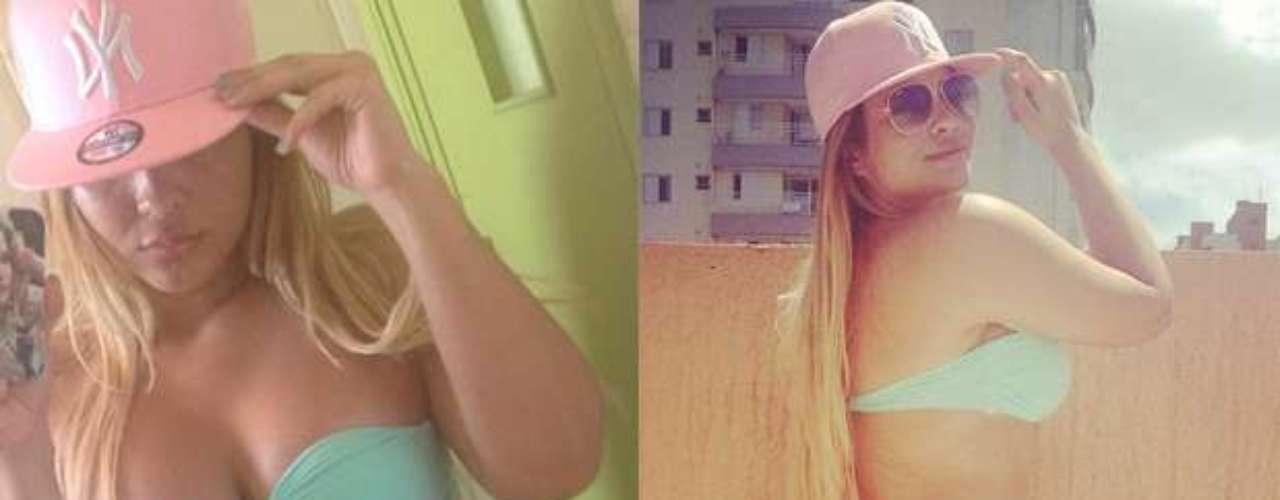 Para se refrescar no calor do sábado (26), Geisy Arruda apostou na combinação infalível de churrasco com piscina. Na rede social Instagram, ela postou foto do seu modelito de biquíni fio dental com babado, nas cores rosa e verde pastel. \