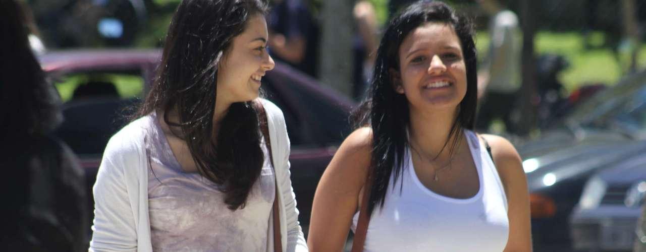 Florianópolis - Neste domingo, a situação foi mais tranquila no campus da Universidade Federal de Santa Catarina em relação a ontem, quando muitos estudantes não conseguiram chegar à prova devido a complicações no trânsito