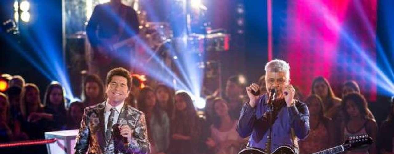 Daniel e Lulu Santos cantaram 'Certas Coisas' e fizeram o primeiro dueto de técnicos da noite