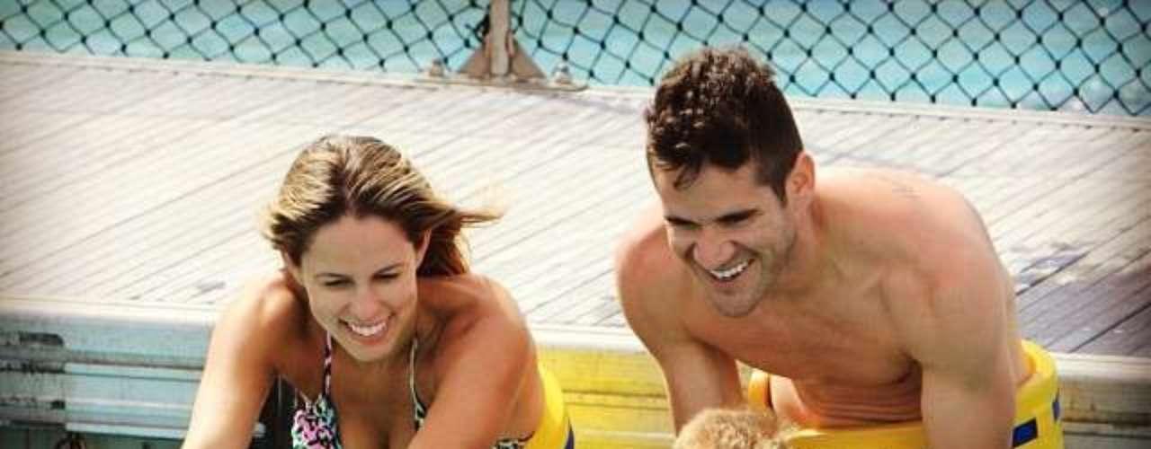 Marcelo Oliveira curte férias com a família