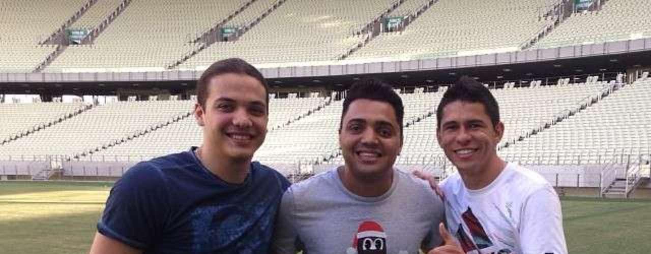 Osvaldo, do São Paulo, visitou Arena Castelão, em Fortaleza