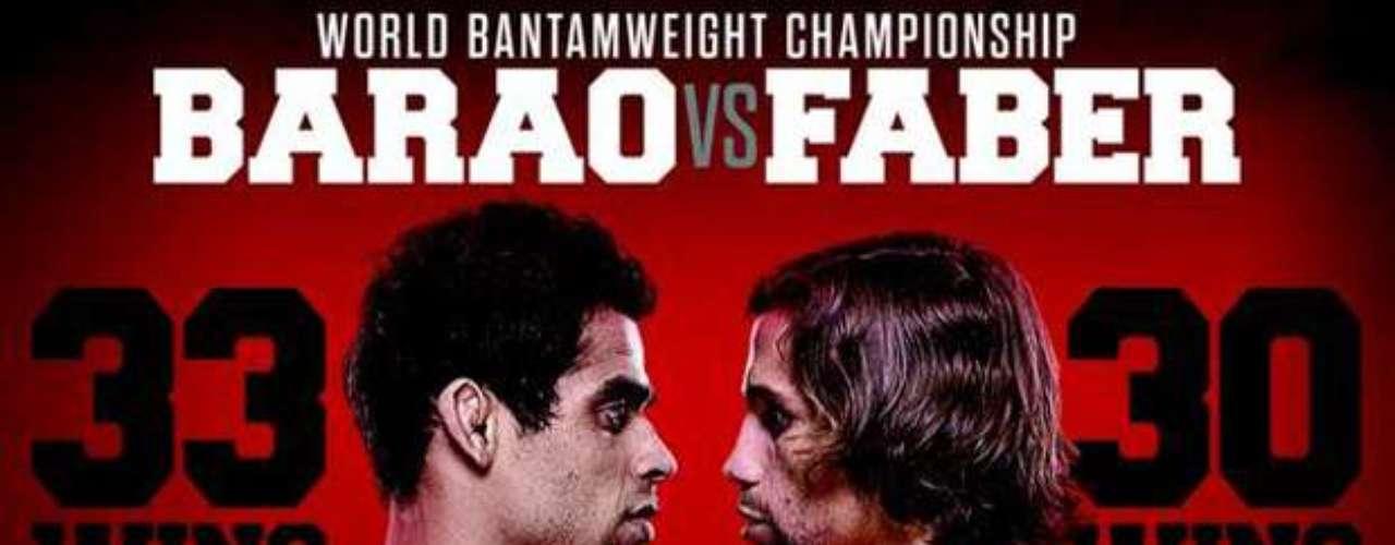 1º Renan Barão x Urijah Faber, no dia 1 de fevereiro, em Newark (EUA) Vale o cinturão do peso galo