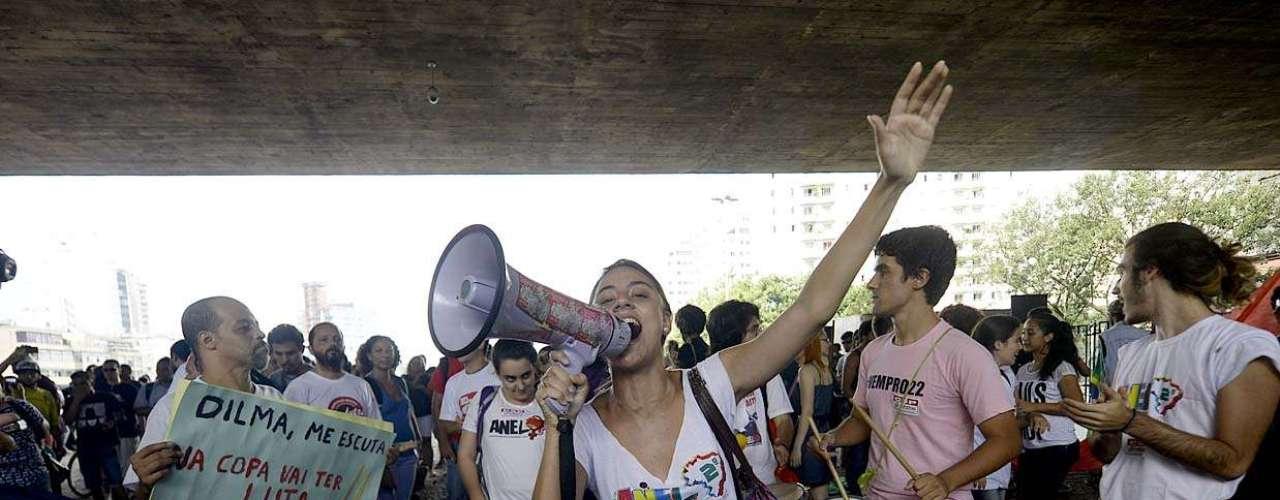 25 de janeiro -Representantes de movimentos sociais e entidades estudantis como a Assembleia Nacional de Estudantes - Livre estão entre os manifestantes