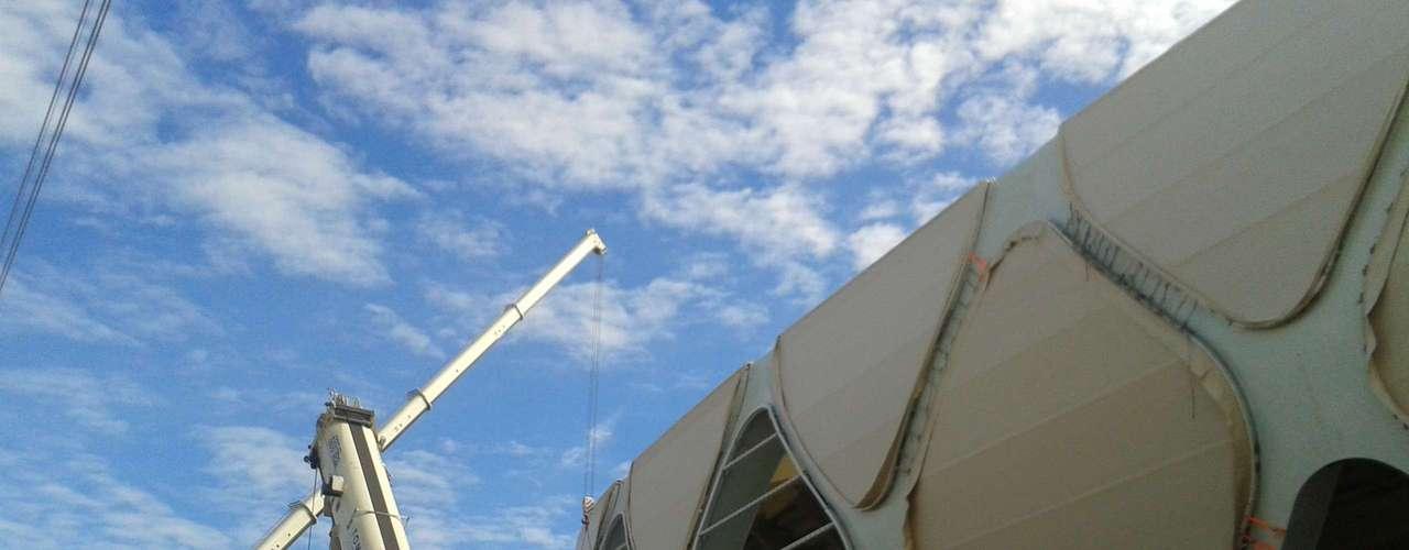 30 de janeiro: Arena Amazônia chegou a 96,21% das obras concluídas para a Copa do Mundo de 2014 - inauguração está prevista para fevereiro