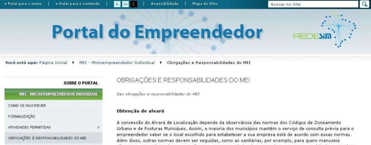 Os Relatórios Mensais de Receitas Brutas podem ser baixados na página do MEI dentro do Portal do Empreendedor, na seção obrigações e responsabilidades do MEI