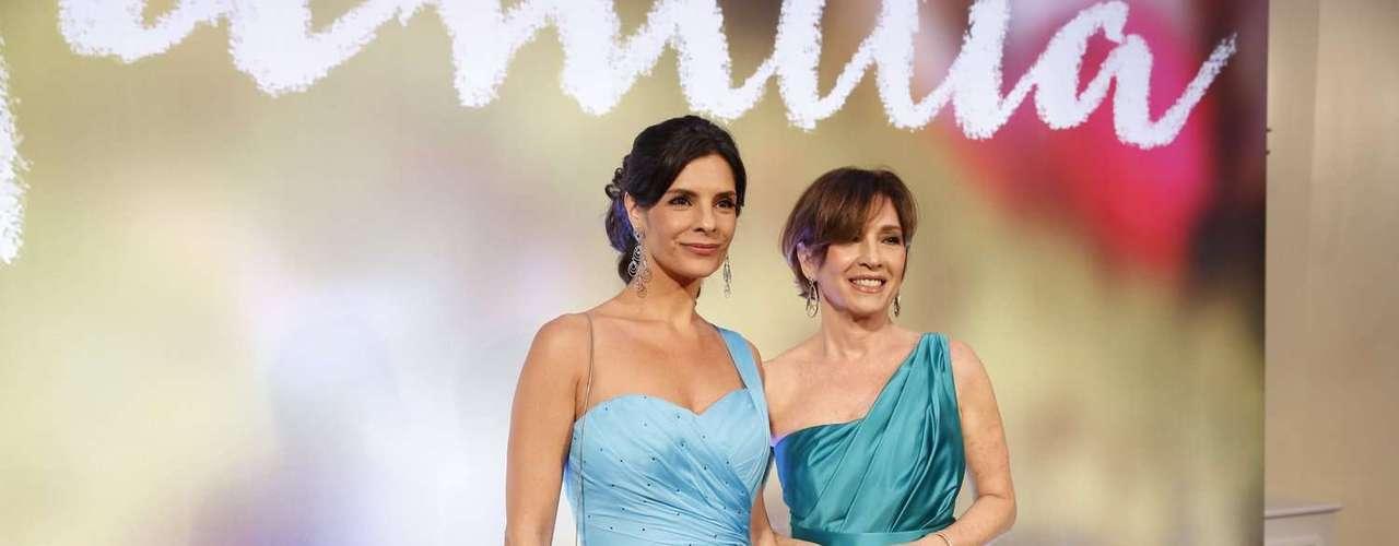 Elenco e diretores festejaram o lançamento da novela global Em Família, na noite deste domingo (2), no Copacabana Palace, Rio de Janeiro. Na foto, Bianca Rinaldi e Julia Lemmertz
