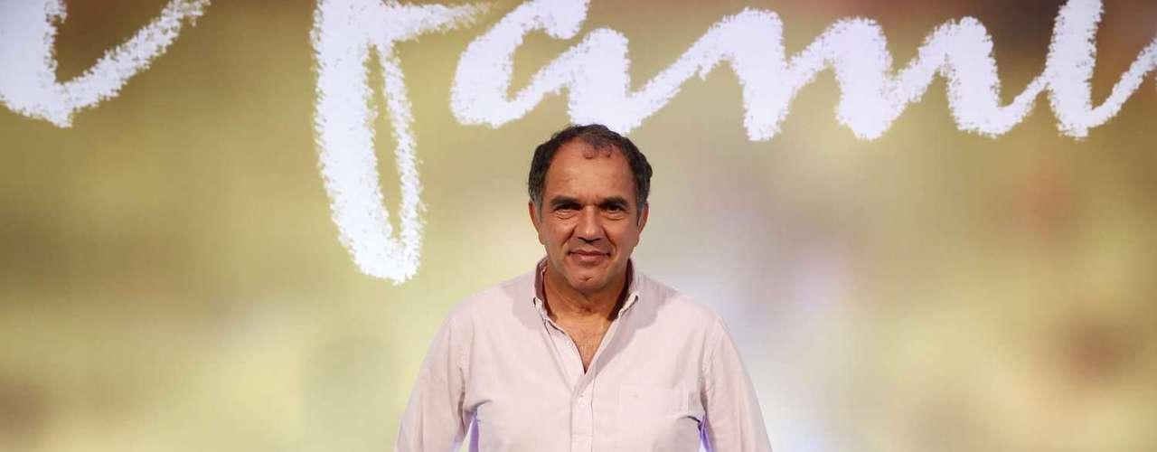 Elenco e diretores festejaram o lançamento da novela global Em Família, na noite deste domingo (2), no Copacabana Palace, Rio de Janeiro. Na foto, Humberto Martins
