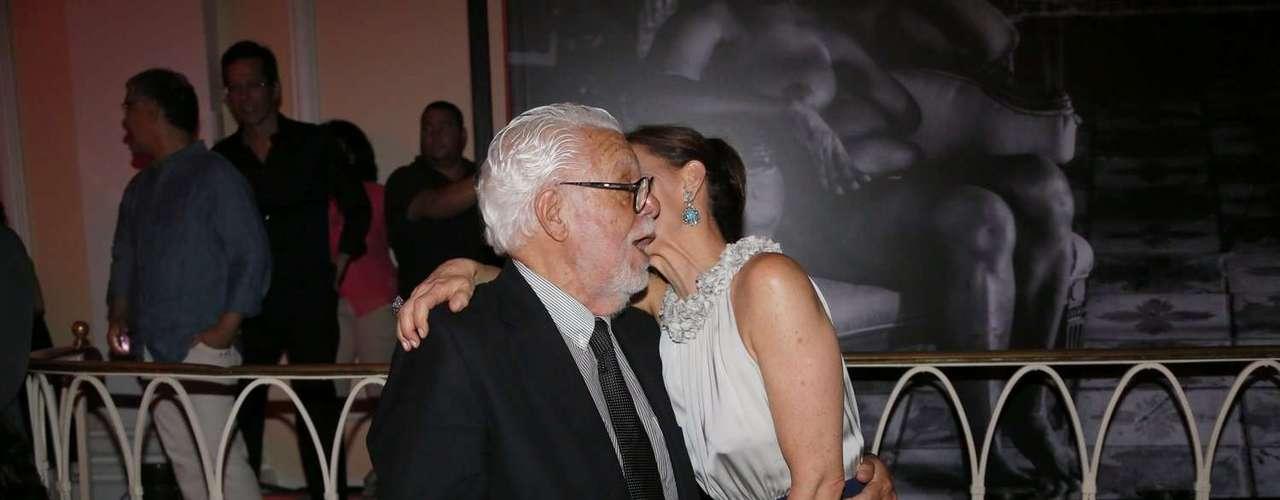O autor Manoel Carlos e a protagonista Júlia lemmertz