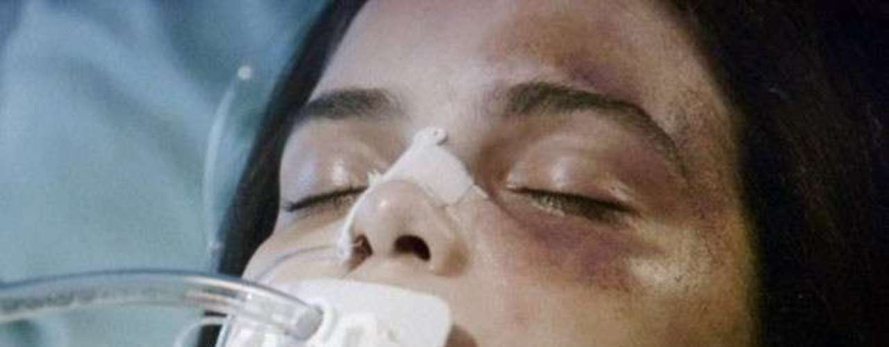 Gorete sofre um acidente emorreapós receber uma visita da patroaJuliana