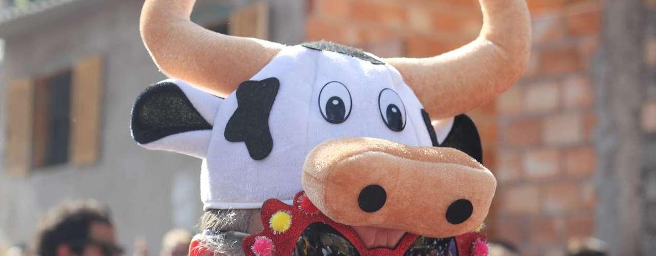 As vacas ajudam a compor o visual folião com óculos transados...