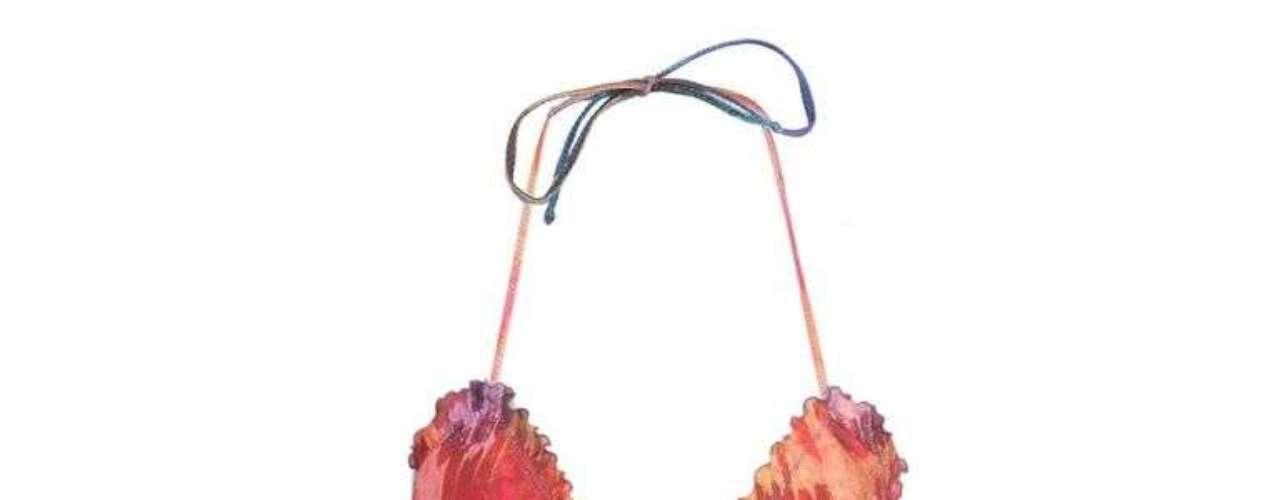 Modelo cortininha multicolor da Água de Coco à venda no site OQUESVESTIR. R$ 180. SAC: (11) 5054-414