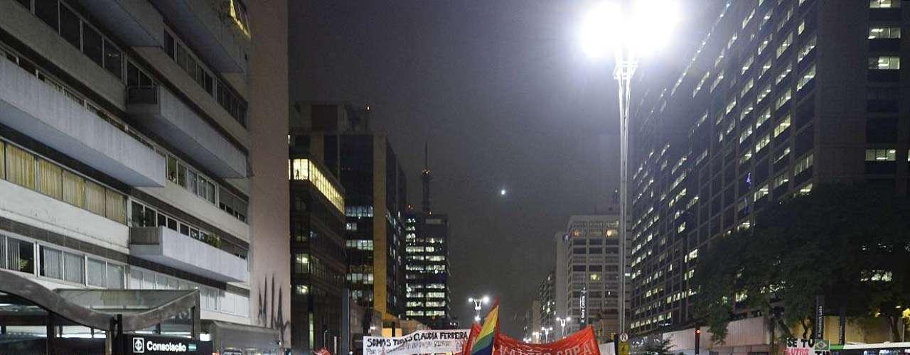 27 de março - O grupo saiu em marcha pela avenida Paulista no sentido Paraíso por volta das 19h30