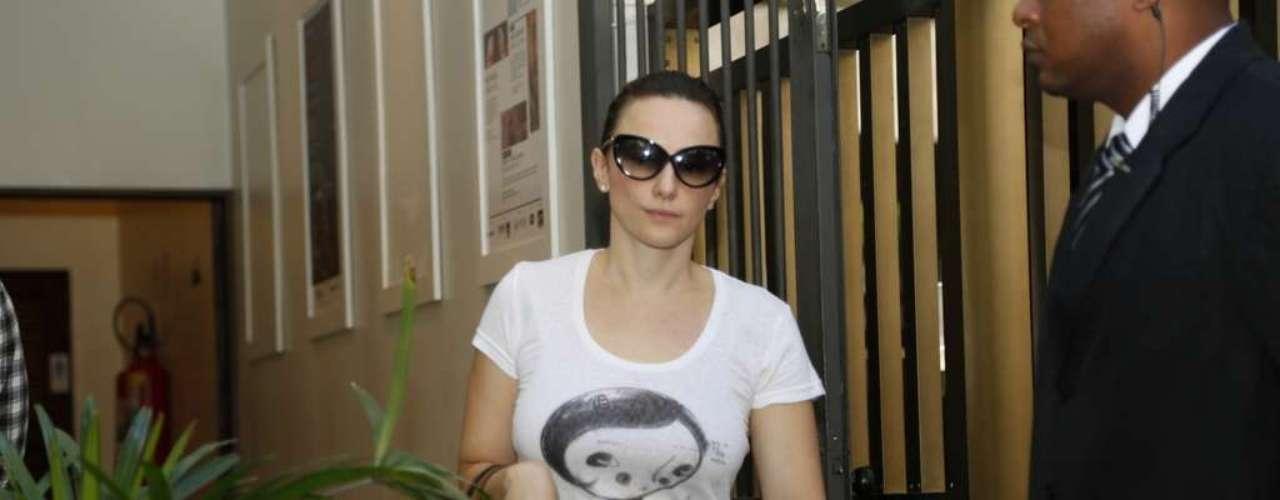 A atriz Paula Braun, mulher de Mateus Solano