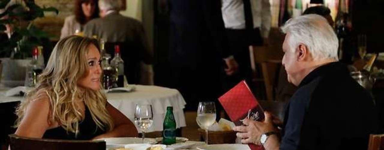 Pilar (Susana Vieira) não facilita acordo pela partilha de bens com César (Antonio Fagundes)