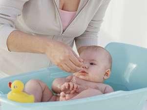 Fazer massagem no banho pode prejudicar o bebê Foto: Getty Images