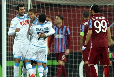 Henrique abriu o placar para o Napoli na Liga Europa Foto: AFP