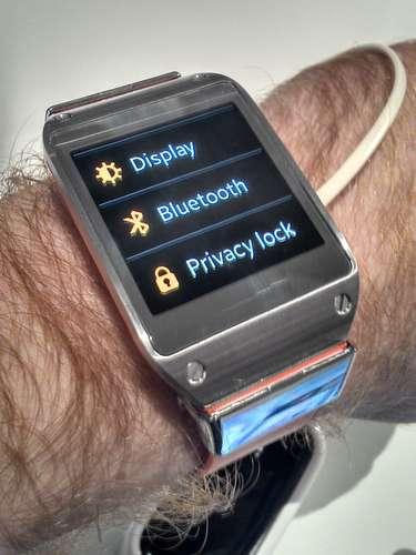 Usuário também pode configurar opções do Galaxy Gear da Samsung