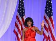 The moment finally arrived, Michelle Obama's Inauguration Ball gown was finally revealed and the lucky designer was Jason Wu, again.  Foto: Getty Images