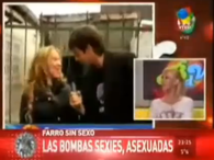 Las famosas, cuentan sus problemas sexuales en televisin. Foto: Captura TV