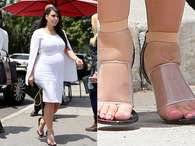 Kim Kardashian parece no entender que el uso de tacones no le beneficia en nada en su embarazo Foto: The Grosby Group
