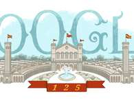 Doodle de Google dedicado a la Exposicin Universal de Barcelona Foto: Google
