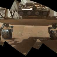 6 de agosto: El robot Curiosity de la Nasa llegó a la superficie de Marte.  Foto: AFP PHOTO/NASA/JPL-Caltech Malin Space Science Systems