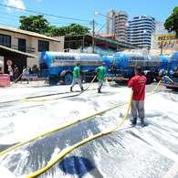 Lavagem das ruas encerra Carnaval baiano. Foto: Francisco Cepeda