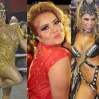 Famosos curtem desfiles das campeãs do Carnaval de SP. Foto: Léo Franco/Paduardo