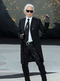 El cuasi octogenario Karl Lagerfeld. Foto: Getty Images