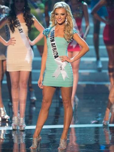 Melinda Bam, Miss África do Sul, foi uma das 16 selecionadas para o desfile de trajes de banho. O Miss Universo 2012 foi realizado no Planet Hollywood Resort e Casino, em Las Vegas, Estados Unidos, nesta quinta-feira (19)