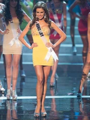 Agnes Konkoly, Miss Hungria, foi uma das 16 selecionadas para o desfile de trajes de banho. O Miss Universo 2012 foi realizado no Planet Hollywood Resort e Casino, em Las Vegas, Estados Unidos, nesta quinta-feira (19)