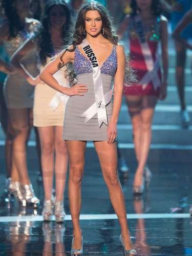 Elizabeth Golovanova, Miss Rússia, foi uma das 16 selecionadas para o desfile de trajes de banho. O Miss Universo 2012 foi realizado no Planet Hollywood Resort e Casino, em Las Vegas, Estados Unidos, nesta quinta-feira (19)
