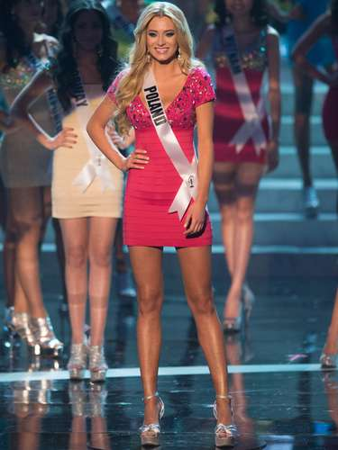 Marcelina Zawadzka, Miss Polônia, foi uma das 16 selecionadas para o desfile de trajes de banho. O Miss Universo 2012 foi realizado no Planet Hollywood Resort e Casino, em Las Vegas, Estados Unidos, nesta quinta-feira (19)