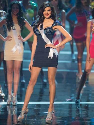 Nicole Faveron, Miss Peru, foi uma das 16 selecionadas para o desfile de trajes de banho. O Miss Universo 2012 foi realizado no Planet Hollywood Resort e Casino, em Las Vegas, Estados Unidos, nesta quinta-feira (19)