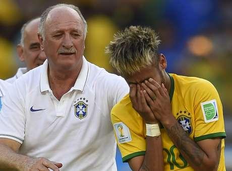 Principais nomes do Brasil mostraram estar extremamente sensibilizados durante a Copa do Mundo Foto: Fabrice Coffrini / AFP